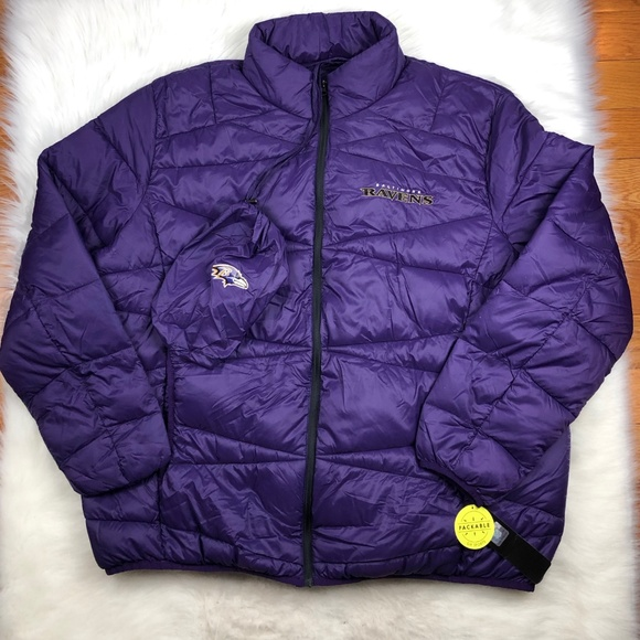 best loved de36d 45550 Baltimore Ravens NFL Packable Puffer Jacket 4X 5X Boutique